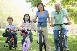 active grandparents with children